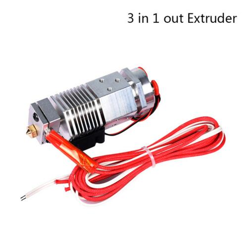 Newest 3D printer part 3 in 1 out Multi-color Extruder Three Colors Switching Hotend Compatible with Bulldog Bowden Extruder light bulldog extruder