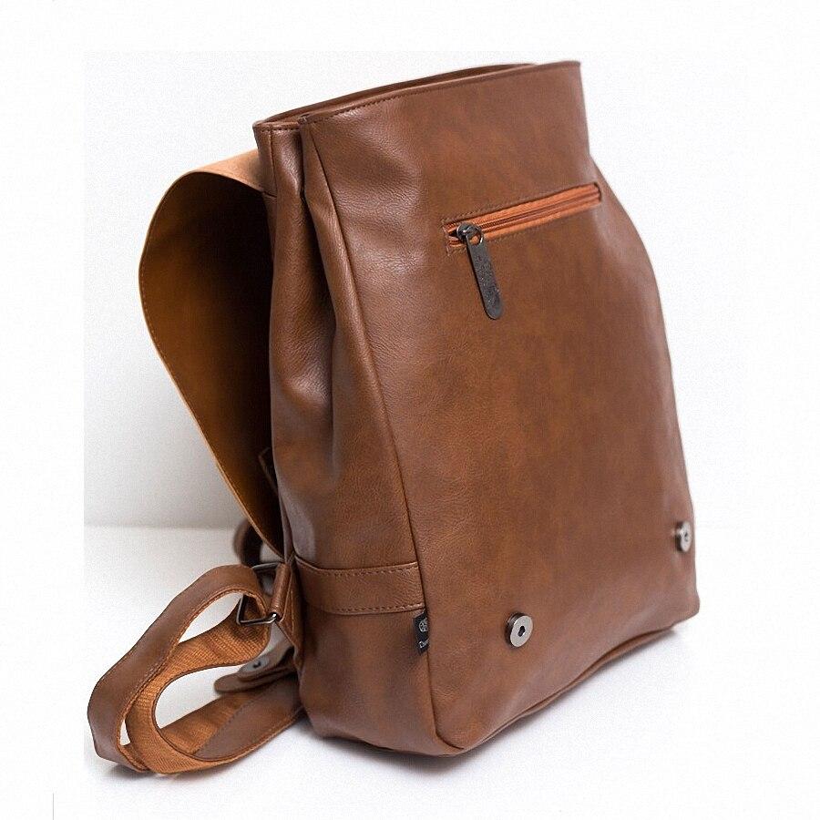 Vintage PU Leather Men Leisure Backpacks Preppy Стиль Mochila - Рюкзактар - фото 4