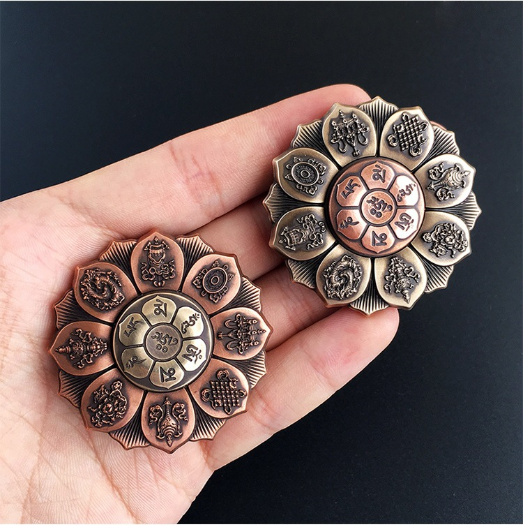 2017 R188 Buddhism Lotus Fidget Spinner Hand Finger Toy Handspinner Metal Spiner Anti Stress Christmas Toys For Children Spinner