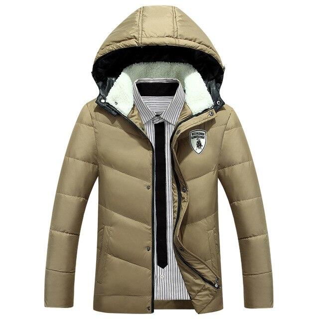 2016 мода длинные куртки мужские зимние куртки горячие продажа М XXL XXXL отдыха на открытом воздухе-M90 % Пуховики Утолщение мужчины вниз куртка