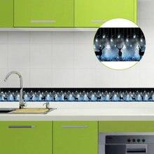 Самоклеящиеся ПВХ обои 5 м бордюры для кухни ванной плинтус