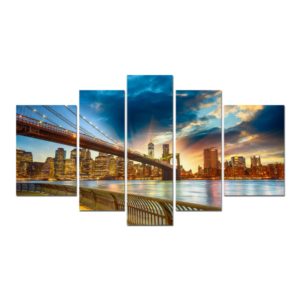 FREE SHIPPING Modern Building London Bridge Oil Painting Canvas Arts Print on Canvas(Unframed)