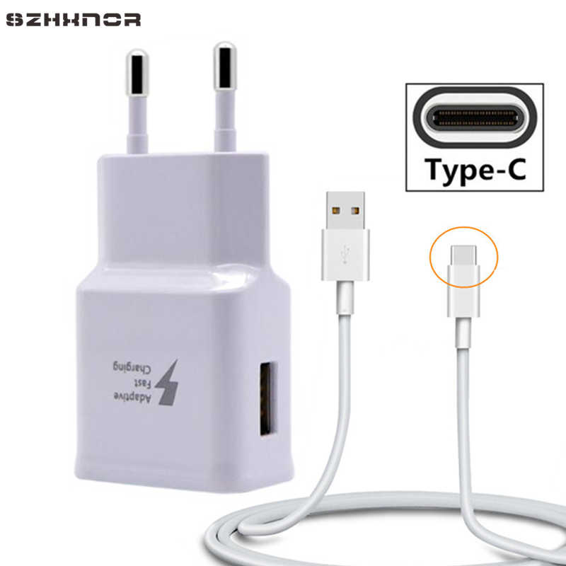 For samsung S10 A7 2018 USB C 3.0 Cable Adaptive Fast Charger for Huawei P20 Pro P30 Lite mate 20 pro Nova 3 3i 4e Honor 10 V20