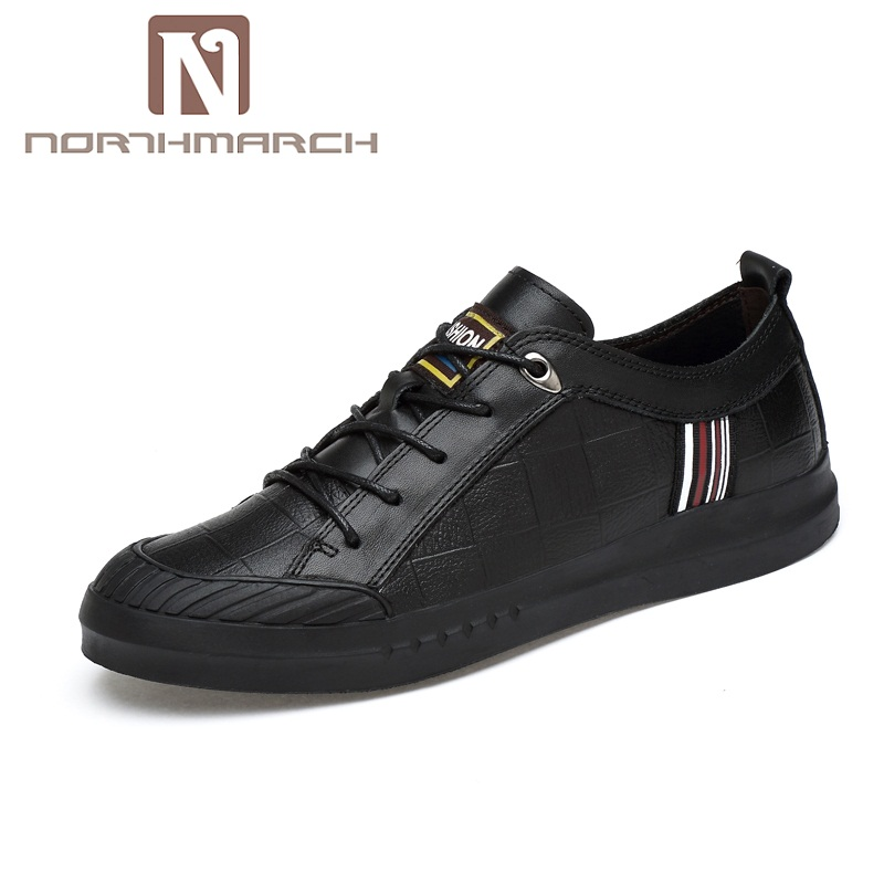 Hommes Black Véritable Pour Grande Chaussures Mens Taille white Northmarch Casual Cuir Mode Mocassins Fur Homme Masculino Chaussure En black Sapato xtzawwn