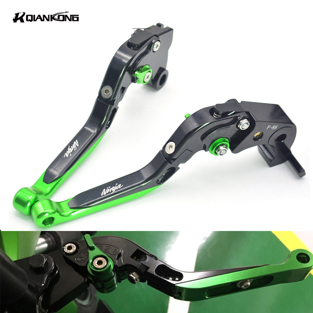 Motorcycle accessories adjustable brake clutch lever Sport moto Bike Modification lever For For Kawasaki Ninja ZX10R ZX-10R 2016 motorcycle accessories clutch brake lever for kawasaki zx9r zx10r z1000