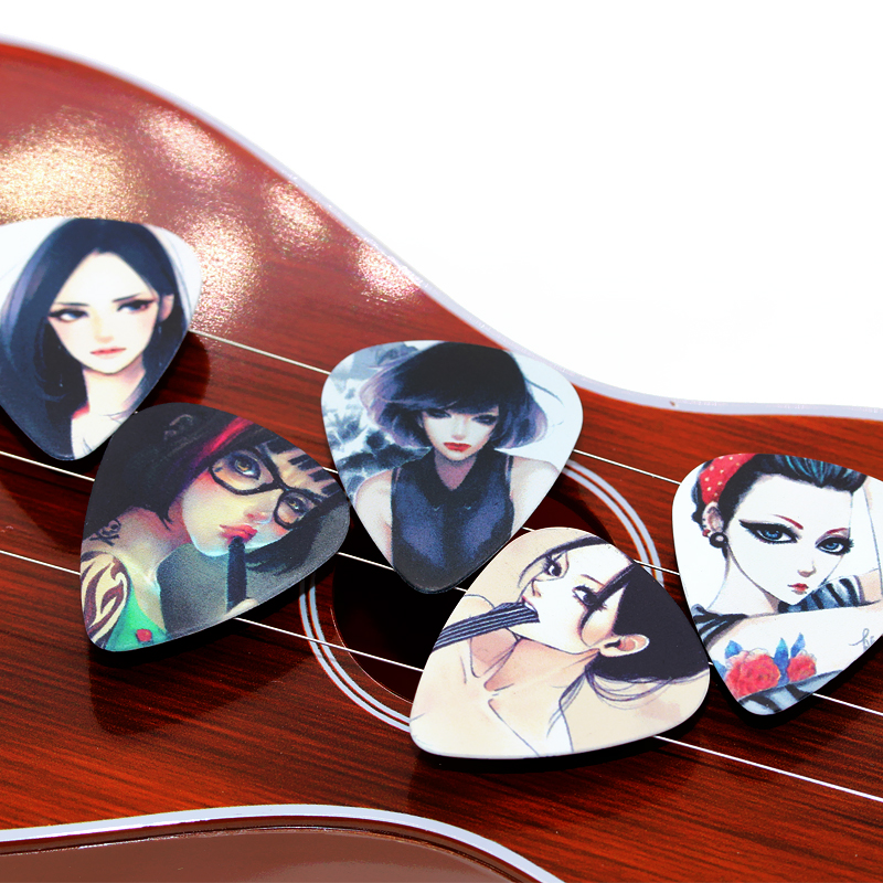 SOACH 10pcs/Lot 1.0mm thickness Sketch high cold goddess Korea music guitar picks