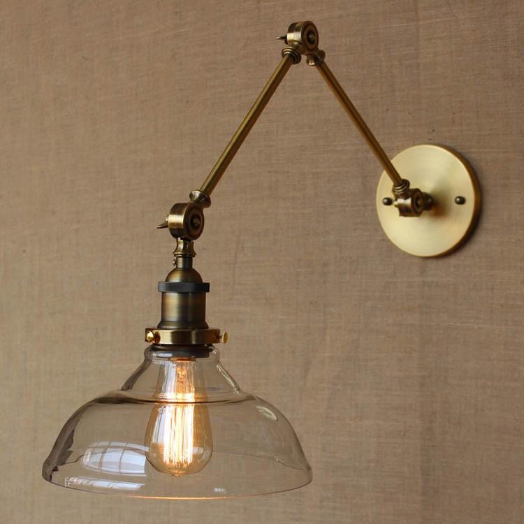 Nordic Loft Style Modern Glass Wall Lamp Edison Bulb Aisle Light Balcony Light Industrial Decorative Light Free Shipping