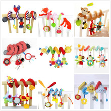 0 12 Months Baby Toddler Animal Spiral Rattles Toys For Baby Stroller Kids Newborns Educational Teether