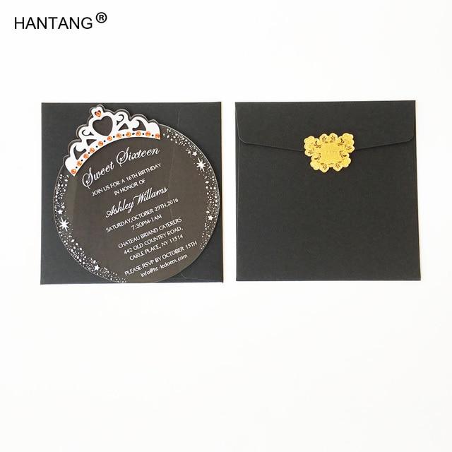 150x170mm round princess crown shape clear acrylic birthday 150x170mm round princess crown shape clear acrylic birthday invitation card sweet sixteen invitation card 100pcs per filmwisefo