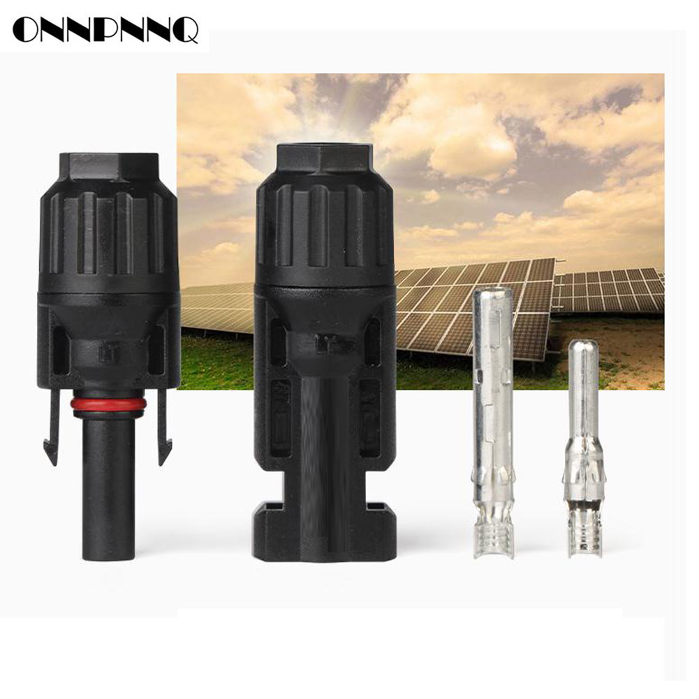 2 Pairs MC4 Male and Female M/F Connectors for Solar Panel 60A