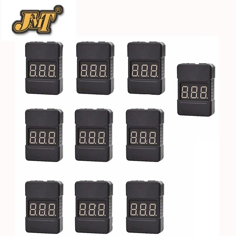 JMT BX100 1-8 s Lipo batería Comprobador de tensión de baja tensión timbre de alarma/comprobador de voltaje de la batería con doble altavoces