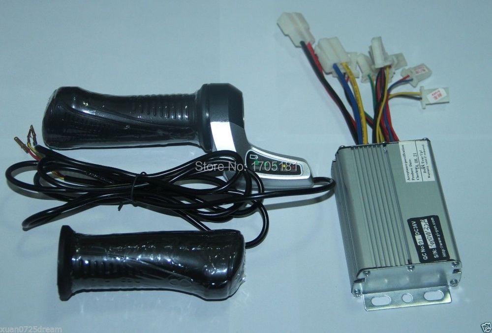 36V 1000W Electric bike Scooter Motor Brushed Controller+Throttle ...