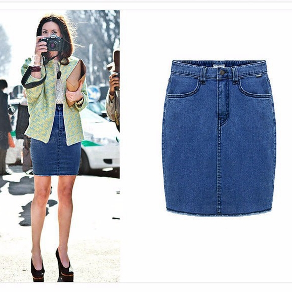 Womens pencil denim skirt – Cool novelties of fashion 2017 photo blog