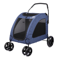 031303 Wheels Pet Trolley Trolley Pet Carrier For Big Pet Thicken Nylon Mesh Strong Iron Pipe