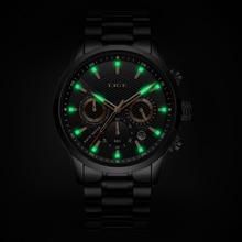LIGE Watches Men Top Brand Luxury Classic Black Quartz