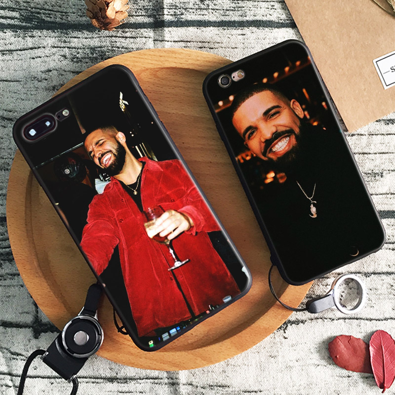 Galleria fotografica DRAKE RAPPER Coque Soft Silicone Phone Case Cover Shell For Apple iPhone 5 5s Se 6 6s 7 8 Plus X XR XS MAX