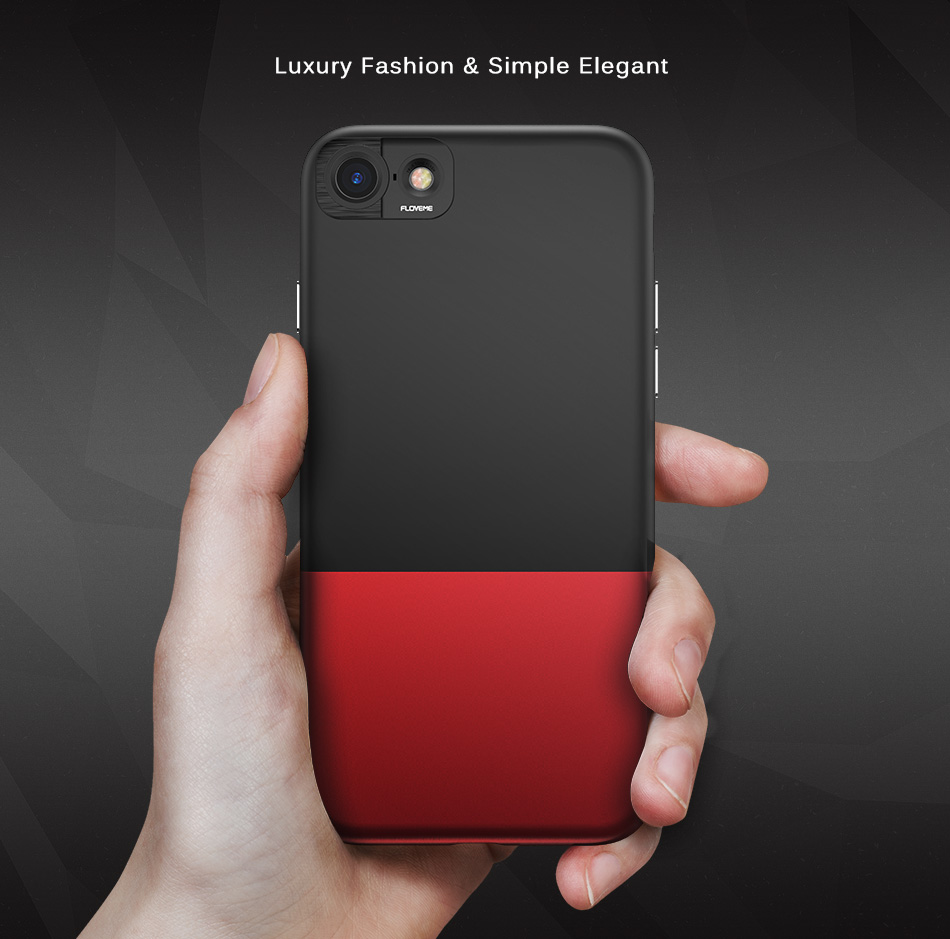 FLOVEME Fashion Contrast Hybrid Phone Cases For iPhone 6 7 6S Plus Higher Camera Protection Hard Hit Color Cover For iPhone 6 7 (4)