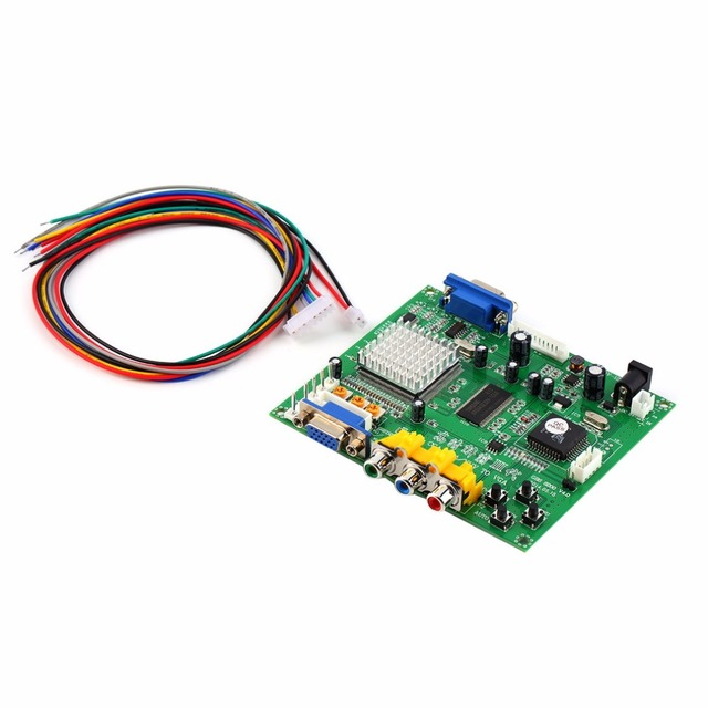 1pcs NEW Arcade Game RGB/CGA/EGA/YUV to VGA HD Video Converter Board HD9800/GBS8200 Hot Worldwide