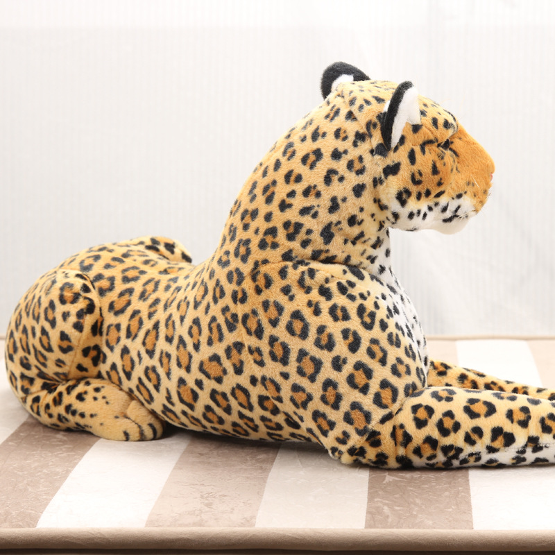 Super Big Size Real Life Animal Leopard Stuffed Plush Toys Artificial Animal Toy Doll Home Decor Accessories Photography props