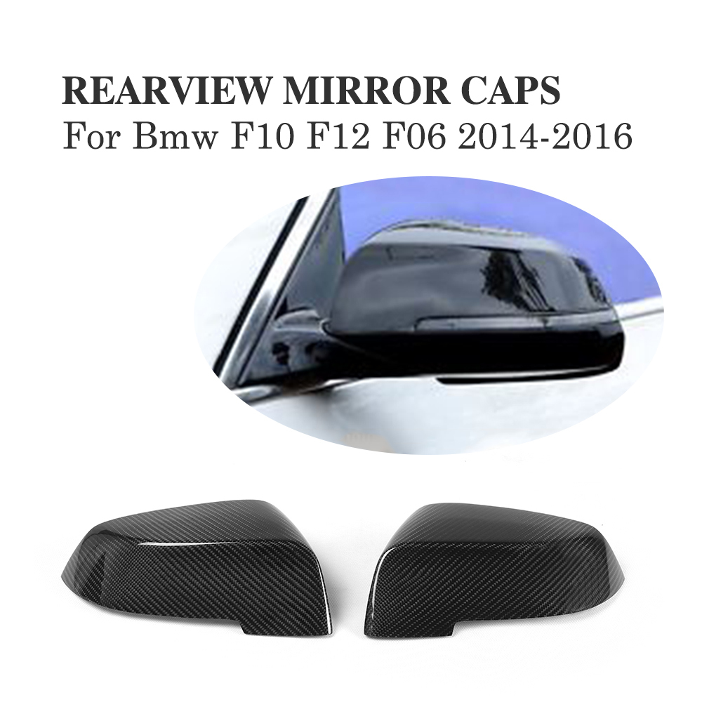 Add On Style Mirror Cover Fit For Infiniti Q50 Carbon Fiber 2014 2015 2016 Up