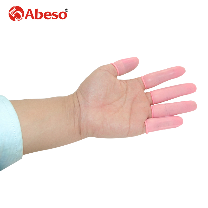 100 1000pcs lot ABESO durable pink latex finger cots safety gloves antislip for chalk Electronic finger