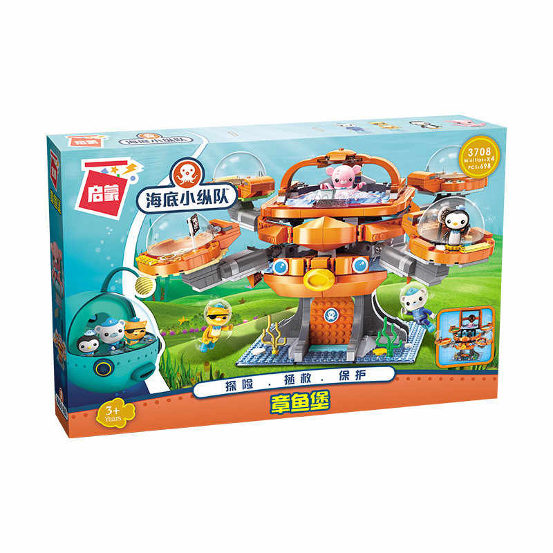 Les Octopus Осьминог Octonauts мультфильм конструктор совместимый с лего Конструкторы duplo кирпичная модель наборы детские развивающие игрушки для детей