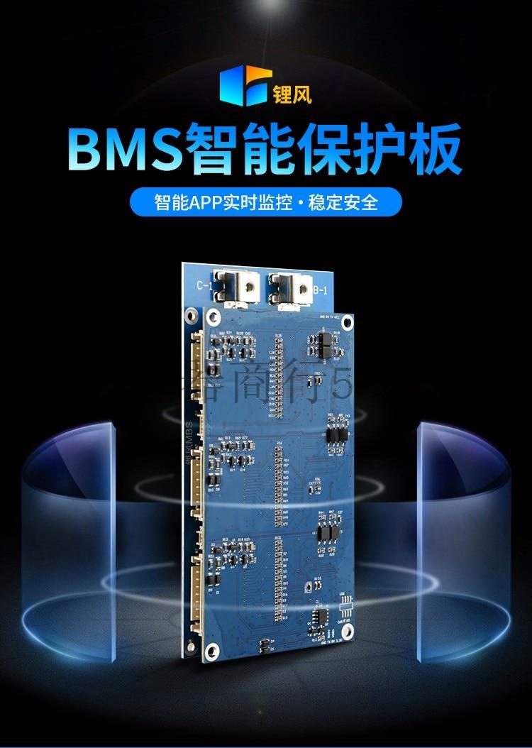 Coulomètre Intelligent de plaque de protection de l'équilibre actif BMS pour les Batteries ternaires de Titanate de fer au Lithium de la série 3-21