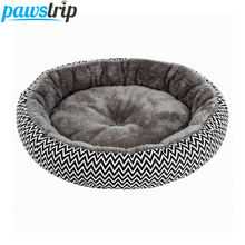 Pawstrip мягкая плюшевая зимняя кровать для собак круглая кошек