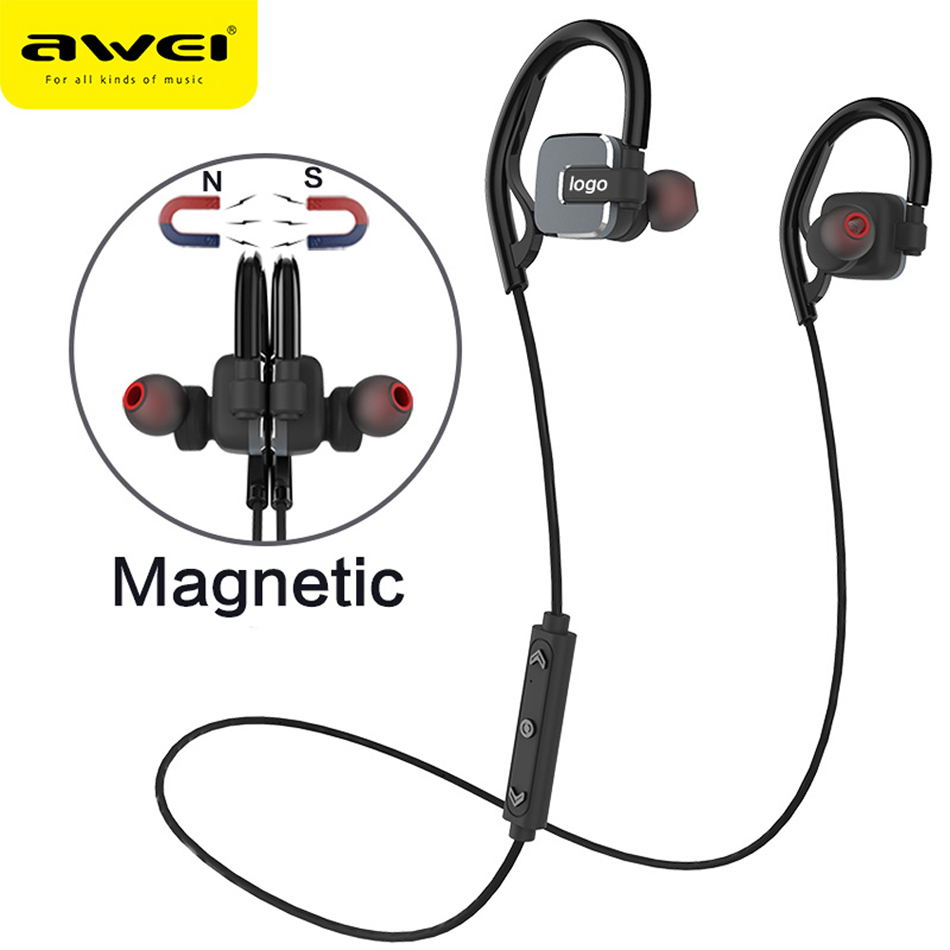 Awei Sport Blutooth Cordless Wireless Headphone Auriculares Bluetooth Earphone For Your In Ear Bud Phone Headset Earpiece Earbud  symrun m1100 blutooth stereo hand free mini auriculares bluetooth headset earphone ear phone bud cordless wireless headphone