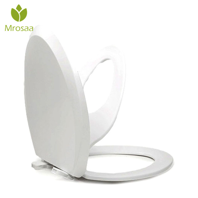 Round Bathroom Adult Toilet Seat with Built-in Child Potty Training Seat Elongated White Toilet Seat Cover Bathroom Accessories 400w smart broyeur toilet 220v 240v in bathroom cellar