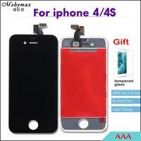 AAA Display LCD para o iphone 6 5S 5 4 4S Tela Sensível Ao Toque de Substituição Digitador + Vidro Temperado Film