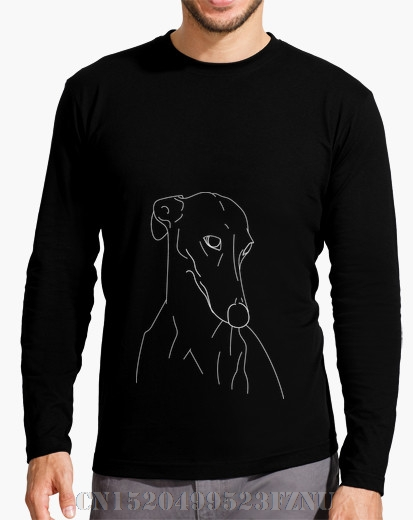 2017 Autumn and Winter New Arrivals t shirt homme Long Sleeve Greyhound Print Long Sleeves Knitted hip hop mens Print