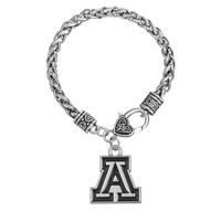 Skyrim Men's NCAA Arizona Wildcats Metal Sports Team Logo Charm Bracelet