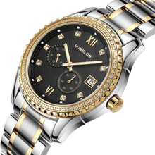 Luxury Men watch new Two-Way Timing Movement Water Resistant Stainless Steel Men's Automatic Mechanical relogio masculino NMB19