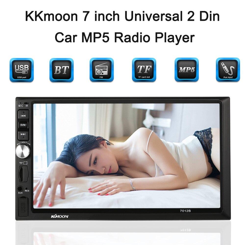 KKmoon 7 Универсальный 2 Din HD BT автомобиля MP5 радио мультимедийных развлечений USB/TF FM Aux Вход /заднего вида Камера