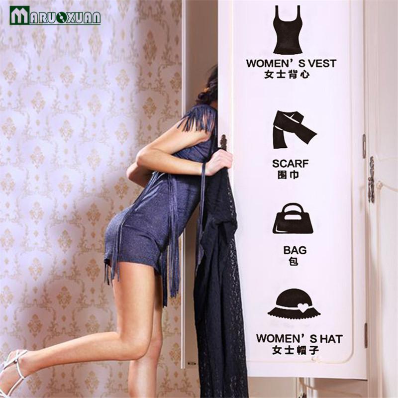 maruoxuan vestir ropa guardarropa armario zapatero etiqueta de de tienda de decoracin de la ventana