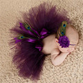 0 to 4 Months Baby Peacock Photo Props Handmade Crochet Beanie Beaded Cap Newborn Photography Props for Wedding Party Birthday