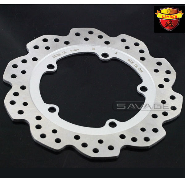 ФОТО For HONDA NC700 NC750 CTX700 NM4 Vultus Motorcycle Accessories Rear Wheel Brake Disc Rotor OD 240mm stainless steel