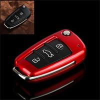 High quality New ABS material Products Car NO smart Folding key cover For Audi a3 8P 8V a4 B7 B8 a6 C6 a8 tt q7 Q3 Q5 s6 s3 s4