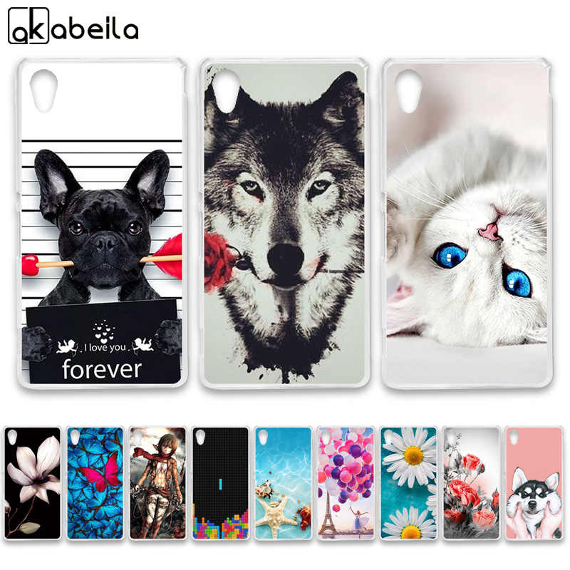 AKABEILA Soft TPU Phone Cases For Sony Xperia M4 Aqua E2303 E2353 E2306 Dual E2333 E2363 E2312 M4Aqua Covers Bags Shell Bumper