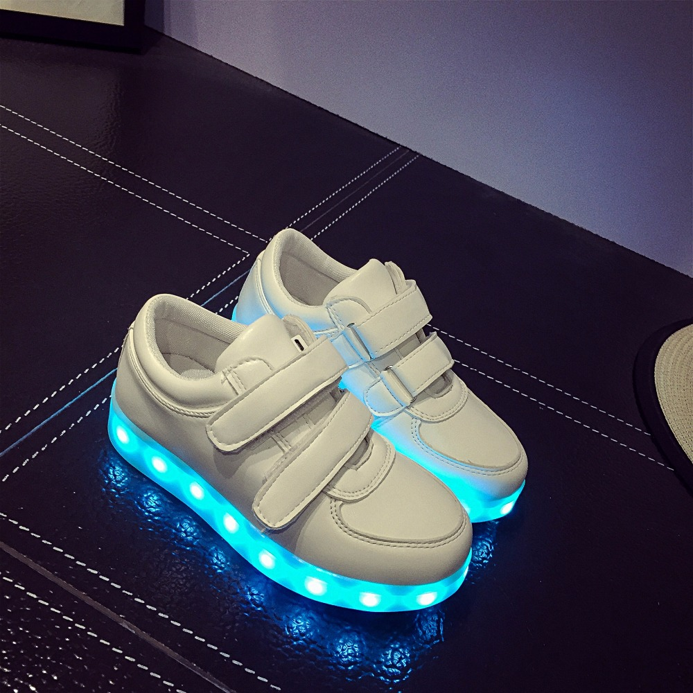 Led Sneakers Classic Strap Kids 8