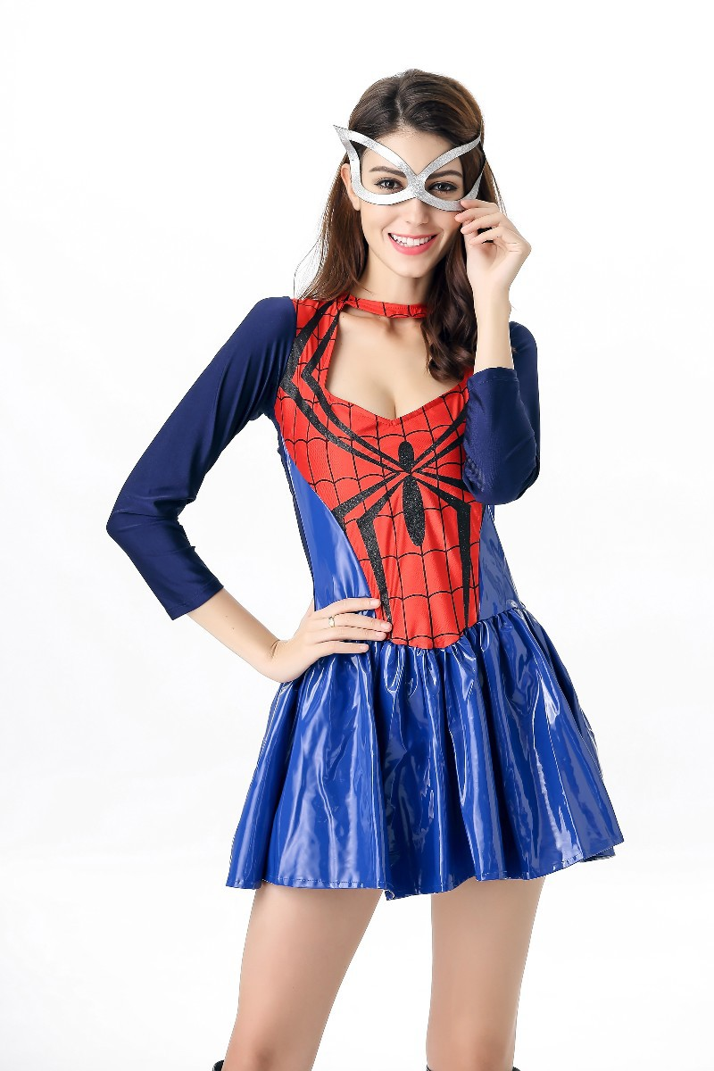Sexy Adult Spider Costume For Women Halloween Spiderman Cosplay Female Fancy Dress + Eyeshade-in Game Costumes from Novelty u0026 Special Use on Aliexpress.com ...  sc 1 st  AliExpress.com & Sexy Adult Spider Costume For Women Halloween Spiderman Cosplay ...