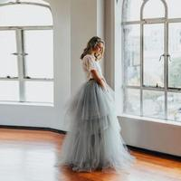 Royal Court Retro Style Skirts Women Length Puffy Tulle Long Maxi Skirt Custom Made Tiered Tutu Formal Skirts