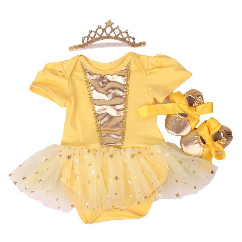 Baby Girls Clothing Infant Babies Dress 3PCS Sets Hot Stamping Stars Romper+Tutu Skirt+Headband Newborn Baby Suits Girls Outfits