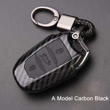 Чехол для автомобильного ключа из углеродного ПВХ, чехол для Peugeot 3008 208 308 RCZ 508 408 2008 407 307 4008 для Citroen C5 C6 C4L, чехол для ключа С КАКТУСОМ