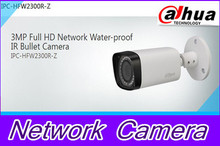 Free DHL shipping Dahua 3.0MP 2.7mm~12mm Motorized network IR-bullet camera security IR water-proof IPC-HFW2300R-Z