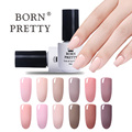Newly 1 Bottle 5ml Born Pretty Elegant Nude Series 12 Colors Nail UV Gel Soak Off Polish UV Glue Good Quality