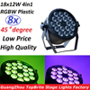 8xLot Professional LED Stage Lights 18x12W Led RGB PAR DMX Stage Lighting Effect DMX512 Master Slave