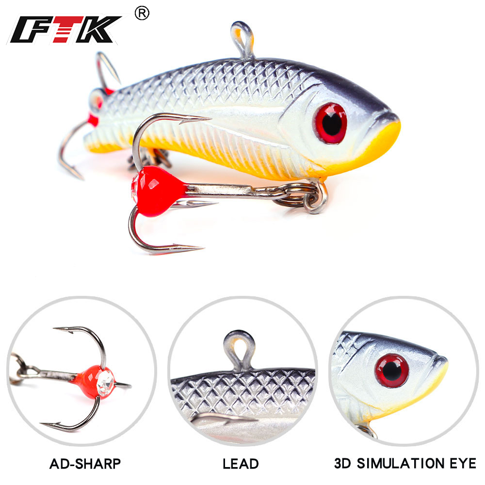 FTK 1pcs Winter Ice Fishing Lure 20g/5cm 35g/5.5cm 5 Colors Balancer Hard Bait Lure For Ice Fishing Lead Jigging Fishing Tackle 1 set fishing jigging metal lead fishing lure jigs super hard bait 20g 30g 40g 60g artificial blade wobblers fishing tackle
