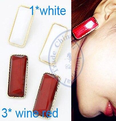Stud Earrings ear rings Fashion for women Girls lady rectangle multi color desgin CN post